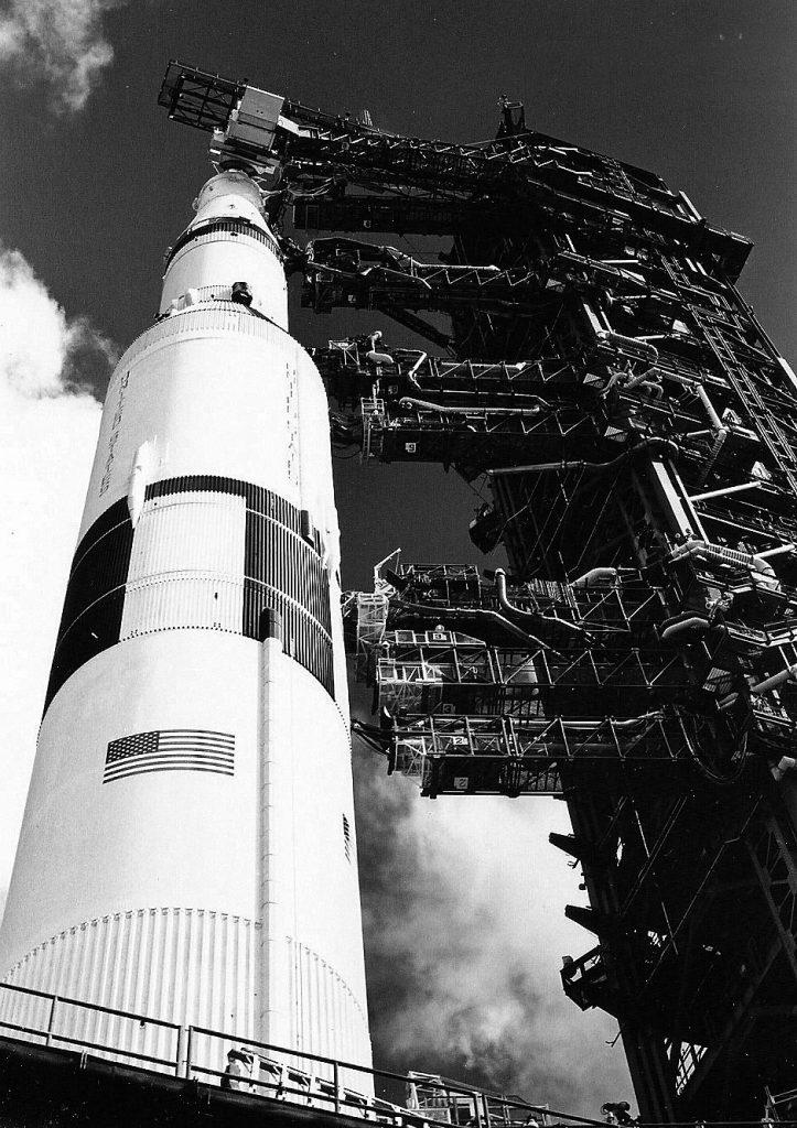 Saturn V awaits last Moon launch. Credit: Julian Leek