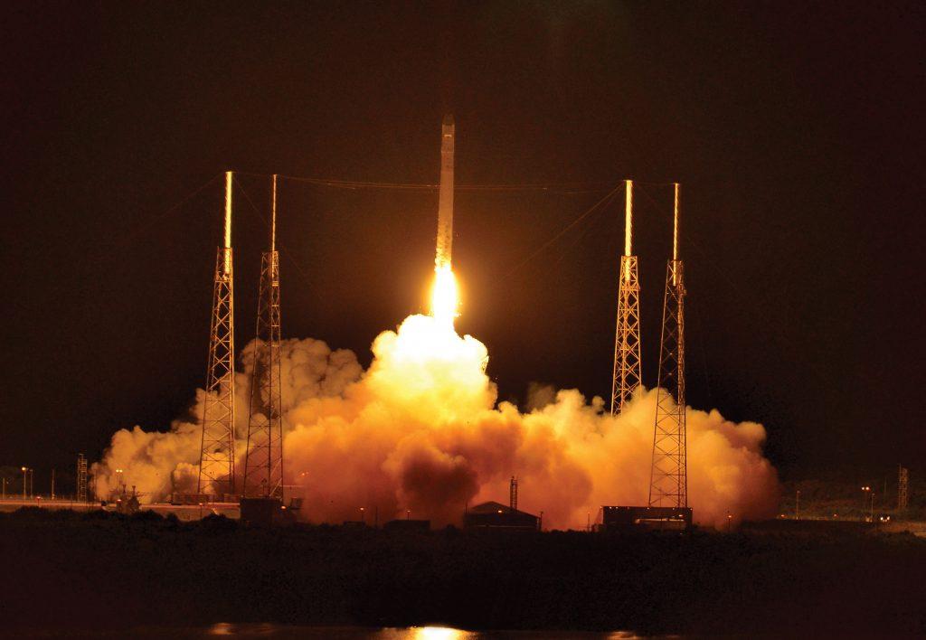 Launch of SpaceX's Falcon 9 rocket. Credit: Julian Leek