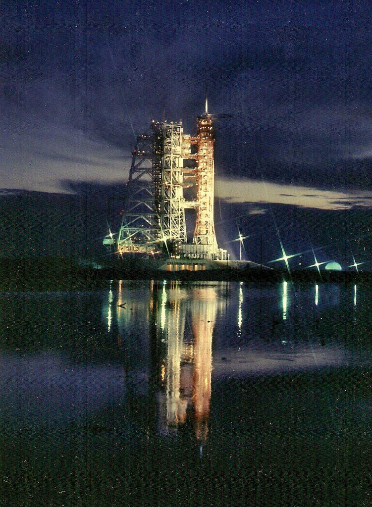 Saturn 1B stands ready at Pad 39B. Credit: Julian Leek