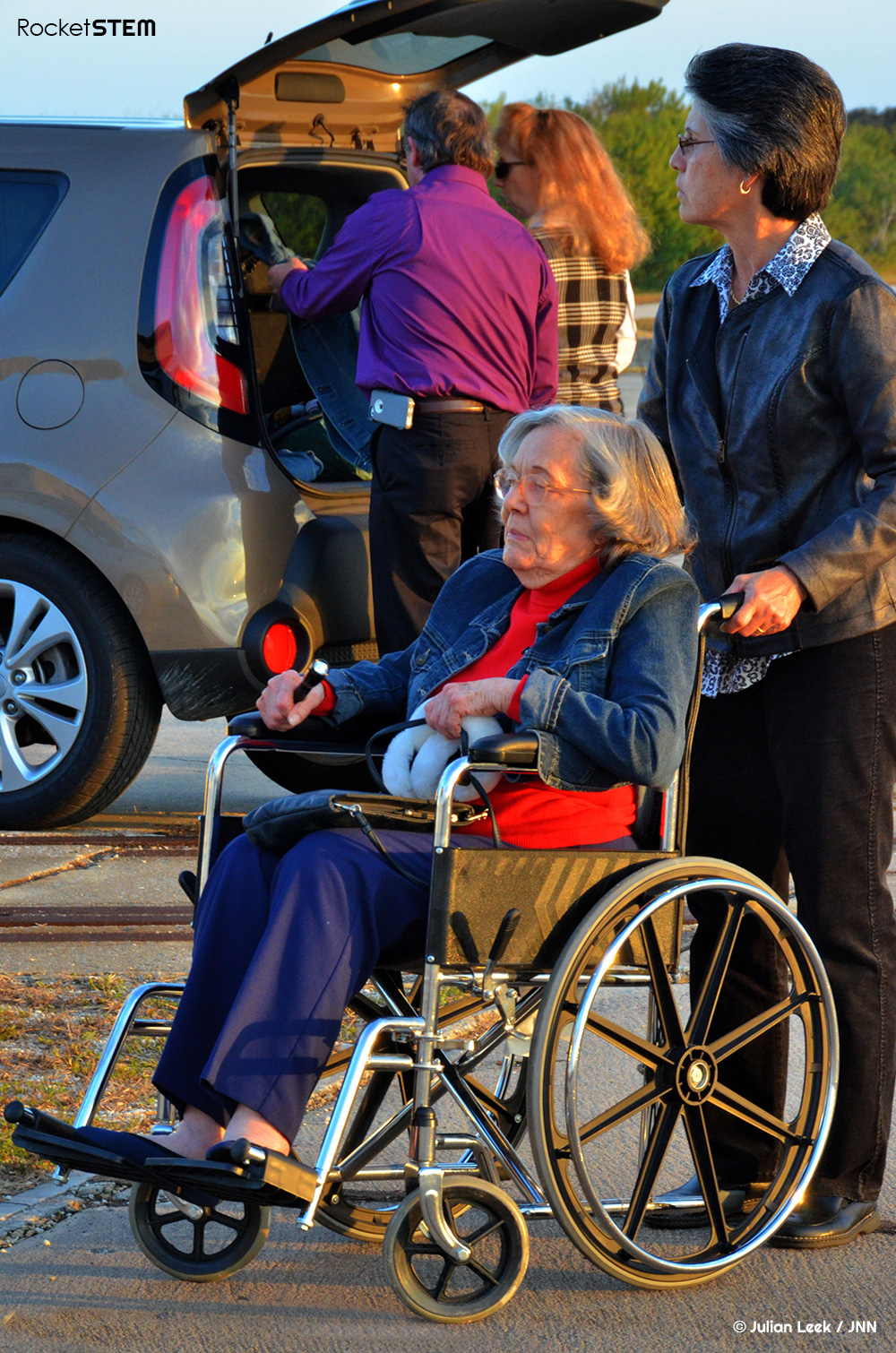 Betty Grissom at the 2014 memorial for Apollo 1. Photo: Julian Leek/JNN