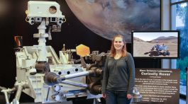 Kim Lichtenberg has been 'working on Mars' as a student and as a scientist and engineer for three Martian rovers.  Photo: Brenden Clark