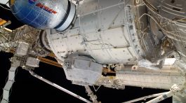 Photographic rendering of Bigelow Aersospace's BEAM inflatable module docked to the ISS.  Image: Bigelow Aerospace