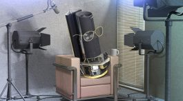 Artist's conception of the Spitzer Space Telescope giving an interview.  Image: NASA/JPL-Caltech/T. Pyle (SSC)