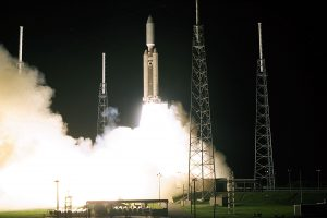 Cassini launches in 1997 to start a seven-year journey to the ringed planet. Credit: NASA
