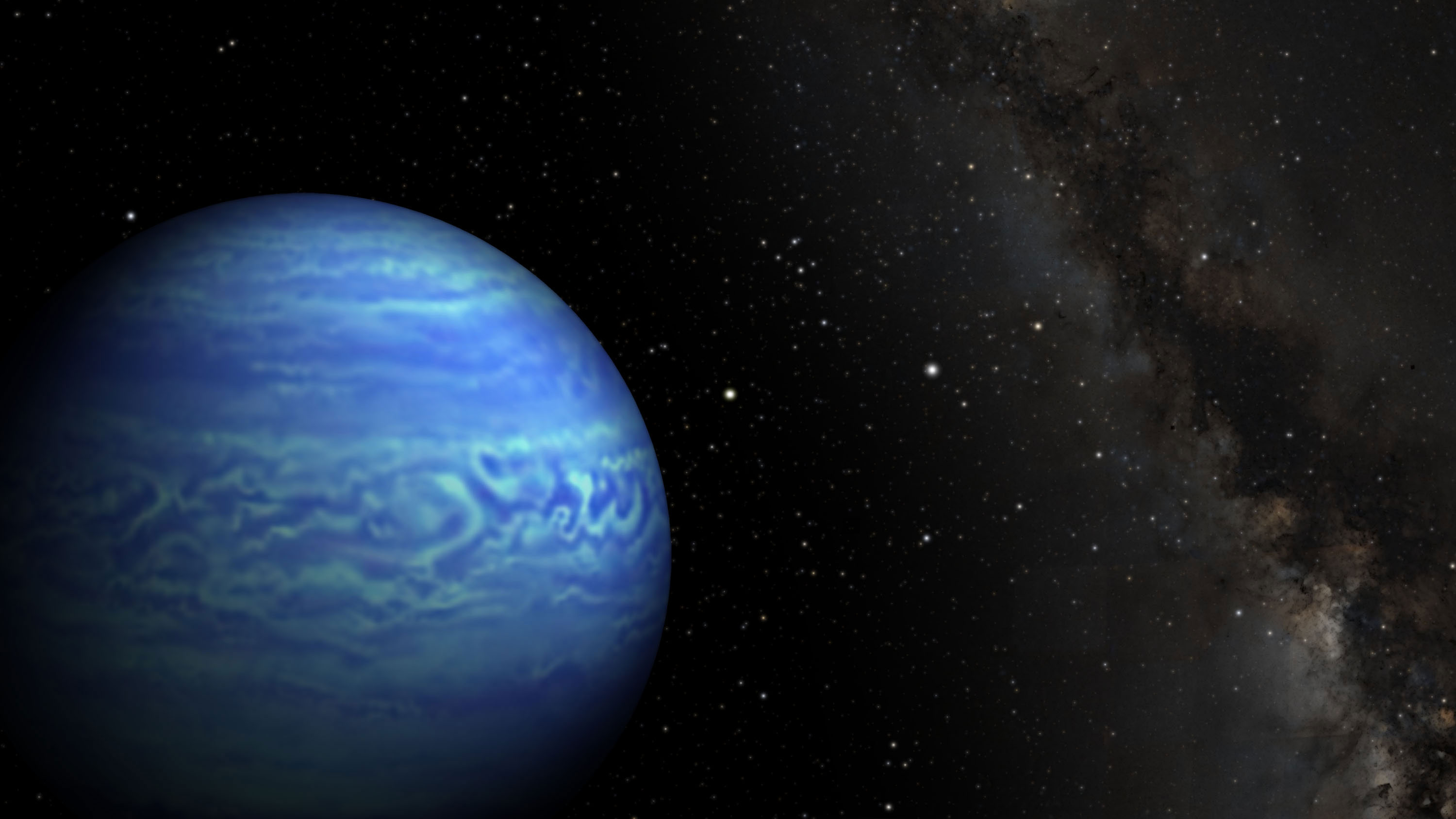 This artist's conception shows the object named WISE J085510.83-071442.5, the coldest known brown dwarf. It is as cold as the North Pole. This celestial orb is also the fourth closest to our sun, at 7.2 light-years from Earth. Credit: NASA/JPL-Caltech/Penn State University