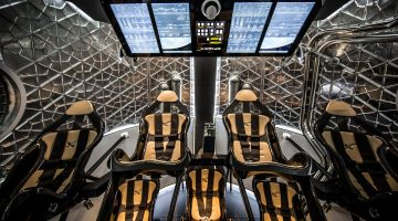 Featuring seating for seven astronauts, the Dragon V2 will be capable of delivering new crews to the International Space Station and eventually Mars.  Credit: SpaceX