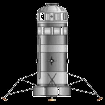 Artist rendering of the Boeing lander. Credit: Mark Wade/Boeing