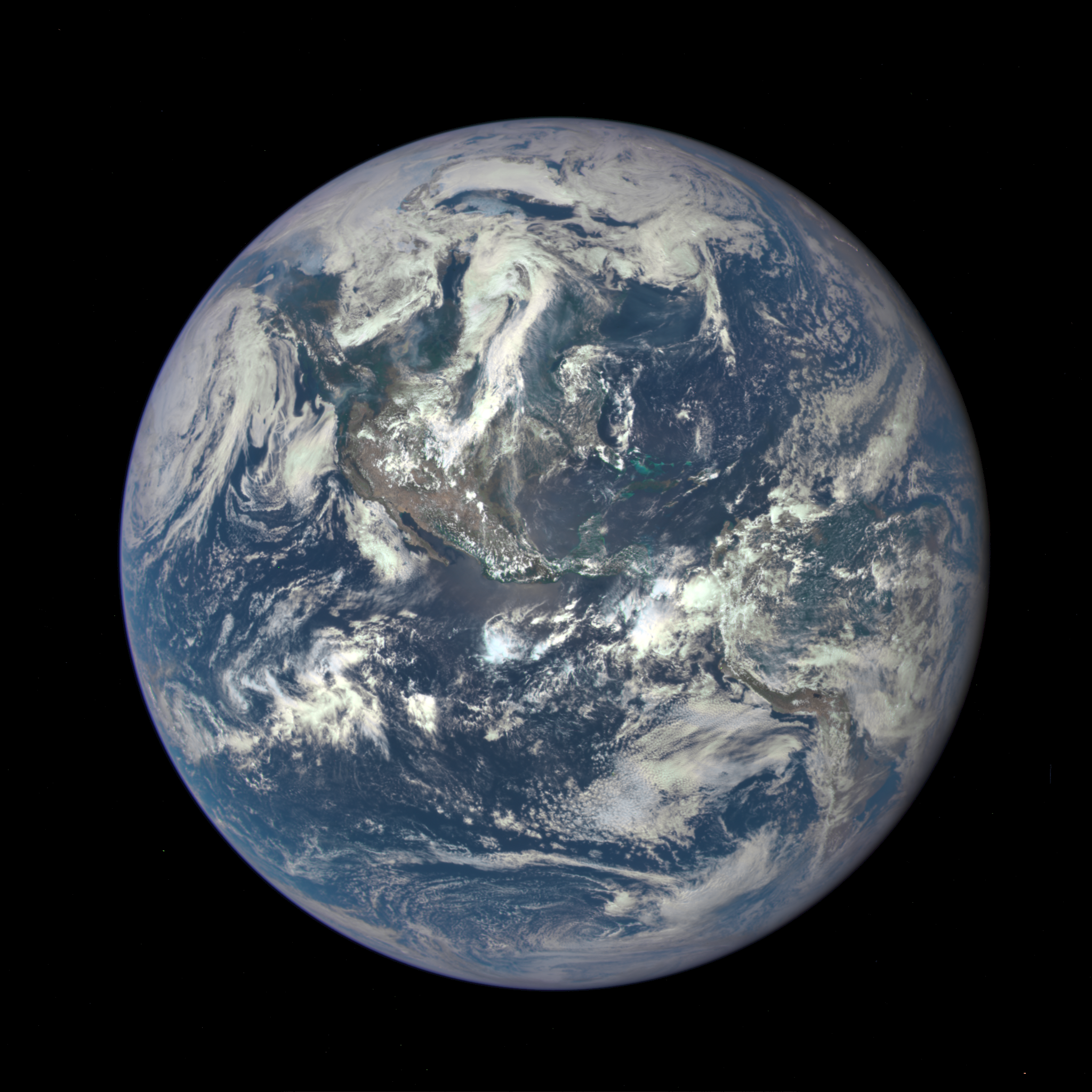 Earth as seen on July 6, 2015 from a distance of one million miles by a NASA scientific camera aboard the Deep Space Climate Observatory spacecraft. Credit: NASA