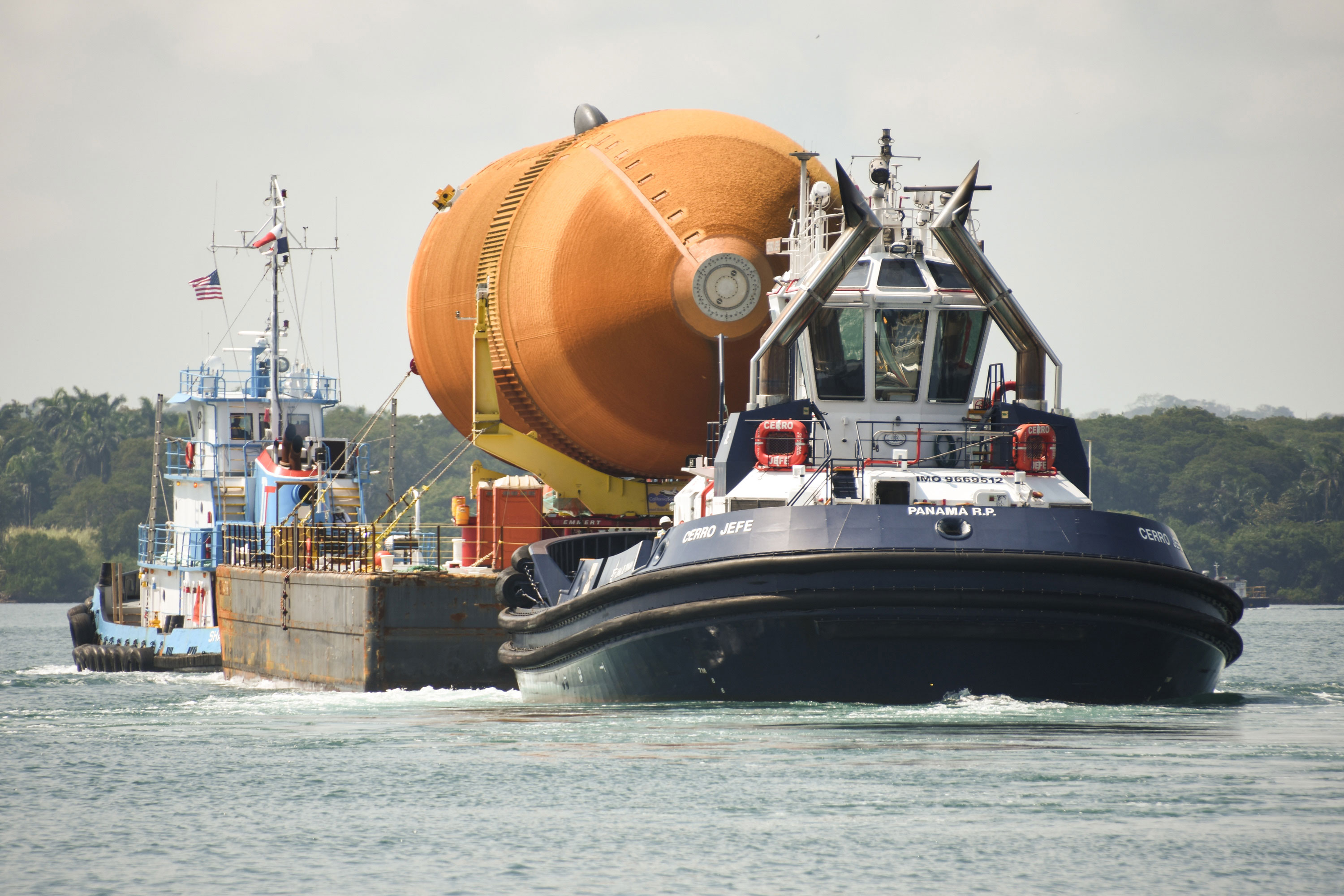 ET-94's journey from New Orleans to Los Angeles included an ocean faring route via barge that took it though the Panama Canal. Credit: Jason Davis/The Planetary Society (CC BY-NC-SA 2.0)