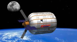 Bigelow's inflatatable modules may one day make it affordable for corporations to build their own stations.  Images: Bigelow Aerospace