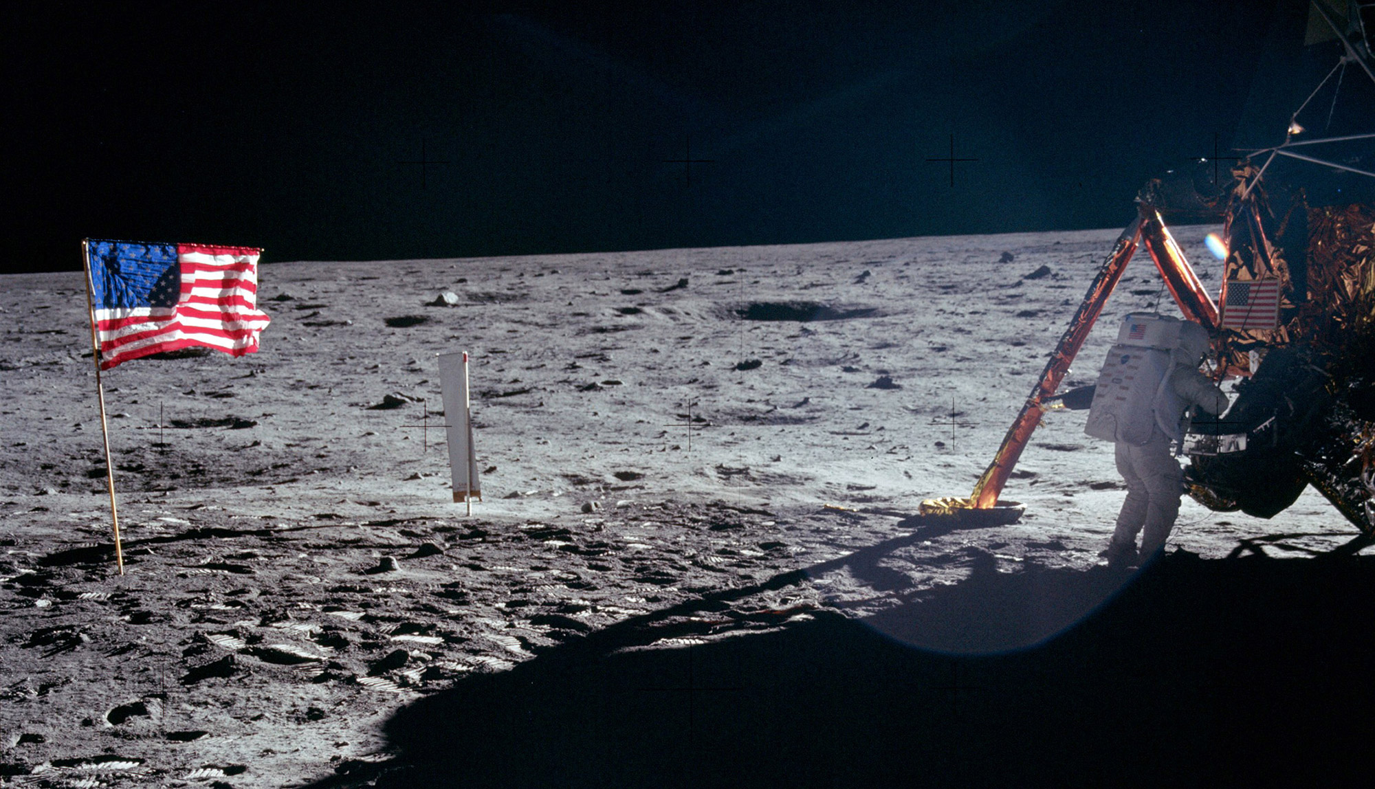 Apollo 11 marked mankind's first steps on a celestial body besides the Earth. Credit: NASA