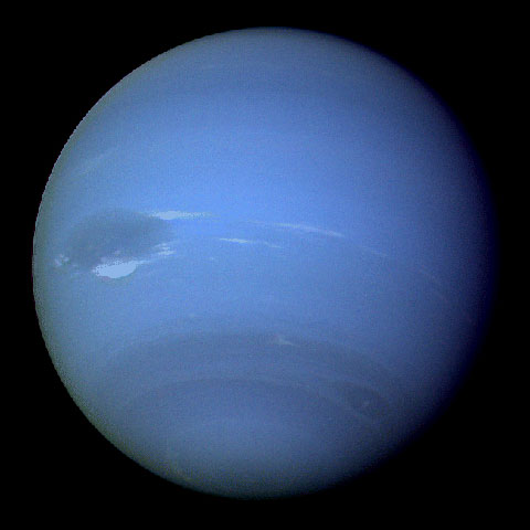 During August 16 and 17, 1989, the Voyager 2 narrow-angle camera was used to photograph Neptune almost continuously, recording approximately two and one-half rotations of the planet. Credit: NASA/JPL