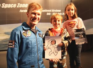 Future space explorers? Kids enjoy some face time with Tim Peake.  Credit: ESA