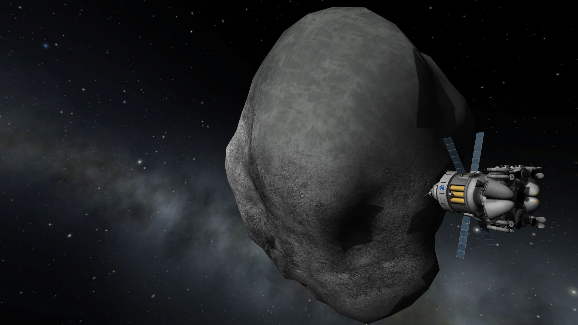 Squad, the creators of KSP, and NASA partnered to bring the Asteroid Redirect Mission into the game. Credit: Squad, Monkey Squad S.A de C.V.